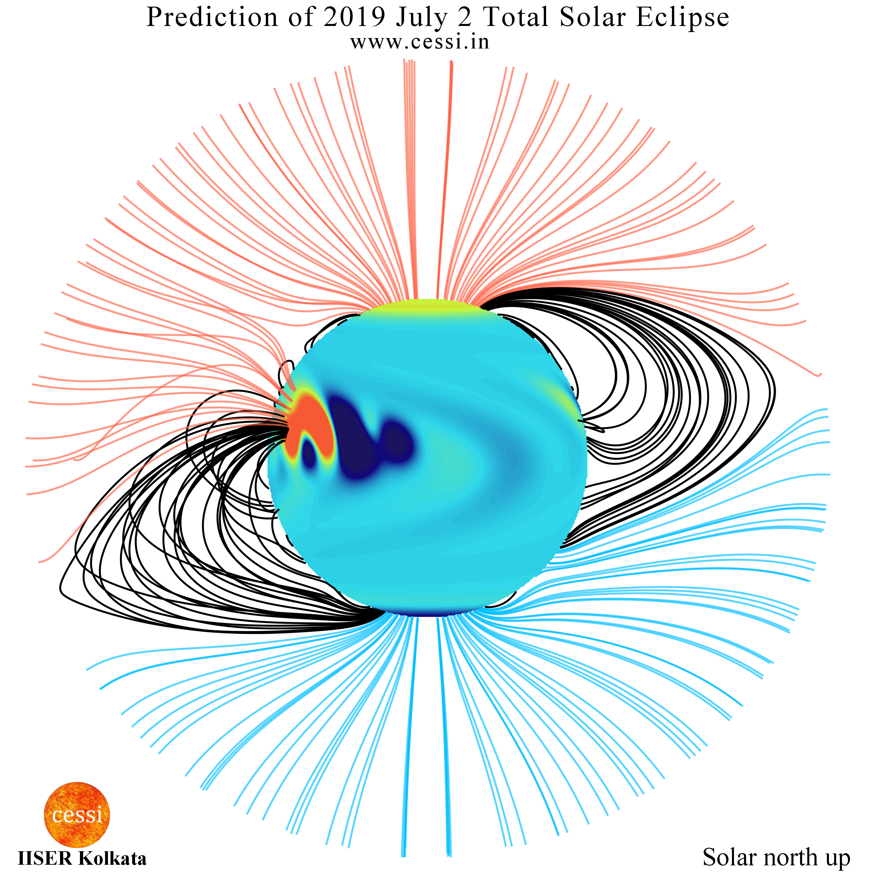 CESSI Prediction of South American Total Solar Eclipse 2019